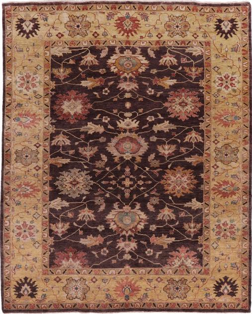 "Hand Made India Mahal 8'2"" x 9'10"" Brown DK"