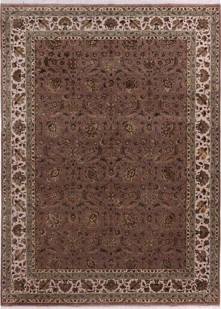 """Hand Knotted India Farahan 9' x 12'2"""" Tan"""