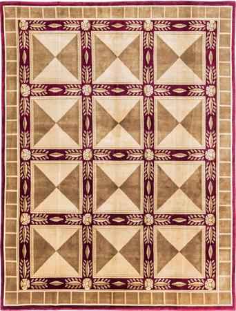 Hand Made India Soofer 8' x 10' Burgundy