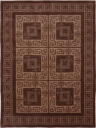 """Hand Made India Soofer 7'10"""" x 10'4"""" Brown"""