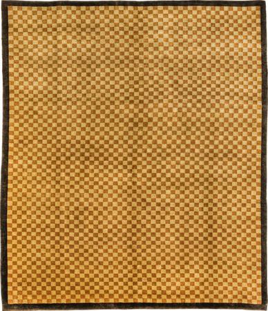 """Hand Made Tibet Contemporary 8'3"""" x 9'8"""" Brown DK"""