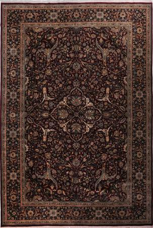 """Hand Made India Agra 12'5"""" x 18' Red DK"""