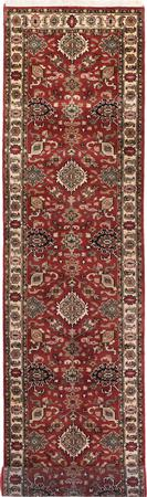 "Hand Made India Mahal 2'7"" x 11'10"" Orange DK"
