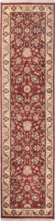 """Hand Made India Mahal 2'6"""" x 9'10"""" Red"""