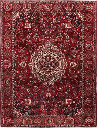 "Hand Knotted Iran Bakhtiari 9'10"" x 13'3"" Red DK"