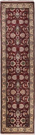 """Hand Made India Mahal 2'7"""" x 9'10"""" Red DK"""