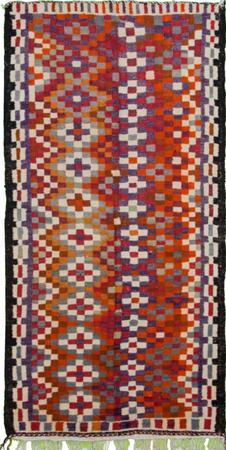 """Flat Weave Iran Kilim 4'9"""" x 8'9"""" Multi"""