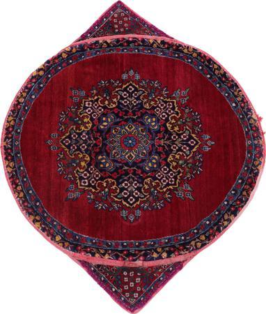 Hand Made Iran Kerman 2' x 2' Red