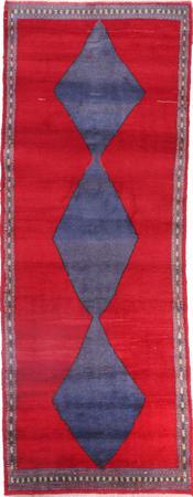 "Hand Knotted Iran Shiraz 3'8"" x 9'9"" Blue"