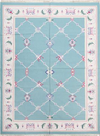 Flat Weave India Dhurrie 9' x 12' Green LT