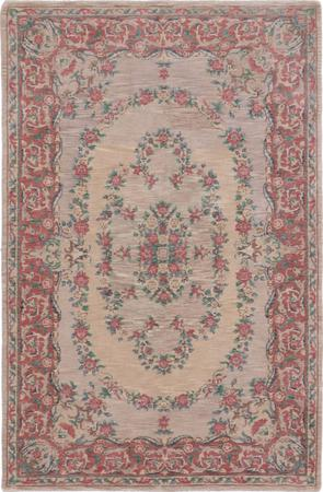 Hand Made India Savonnerie 4' x 6' Beige
