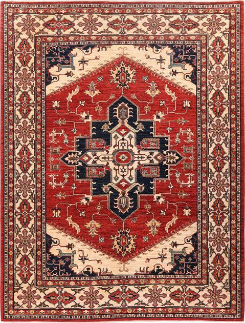 "Hand Made Pakistan Super Kazak 7' x 9'7"" Red"