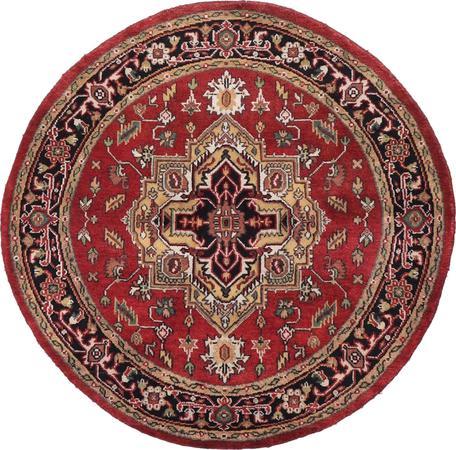 Hand Made India Serapi 5' x 5' Red