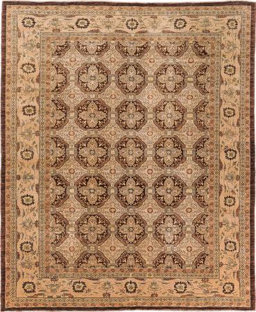 Hand Made Pakistan Sultanabad 8' x 10' Brown