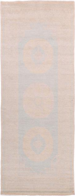 "Hand Made Afghanistan Khotan 3'2"" x 8' Blue LT"