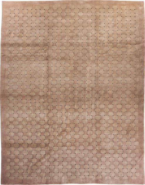 """Hand Made India Contemporary 8'11"""" x 11'4"""" Beige"""