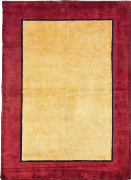 """Hand Knotted India Gabbeh 4'7"""" x 6'4"""" Yellow LT"""