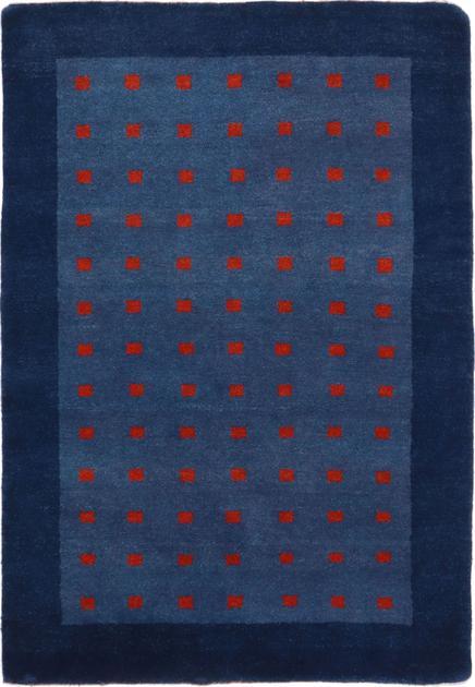 "Hand Knotted Iran Gabbeh 4' x 5'10"" Blue"