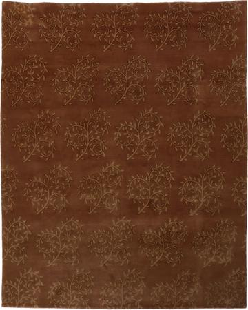 """Hand Knotted Nepal Contemporary 8' x 9'10"""" Brown DK"""
