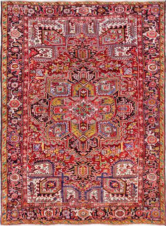 """Hand Made Iran Heriz 8'3"""" x 11' Red"""