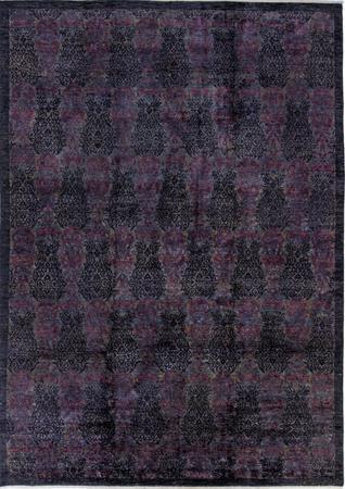 "Hand Made Pakistan Ziegler 9'10"" x 13'10"" Purple DK"