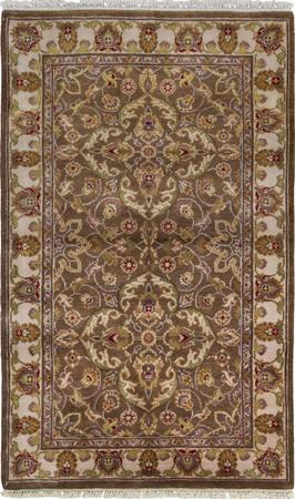 """Hand Made India Oushak 3'3"""" x 5'3"""" Brown"""