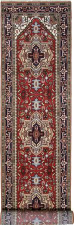 Hand Made India Serapi 4' x 24' Red DK