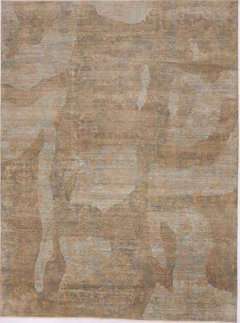 "Hand Made India Josheghan 10' x 13'8"" Blue LT"