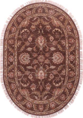 Hand Made India Mahal 4' x 6' Brown