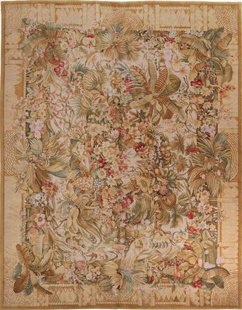 Hand Made China Savonnerie 12' x 15' Yellow DK
