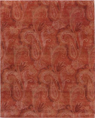 """Hand Made India Paisley 8' x 9'11"""" Red LT"""