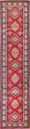 "Hand Made Afghanistan Super Kazak 2'6"" x 10'8"" Red"