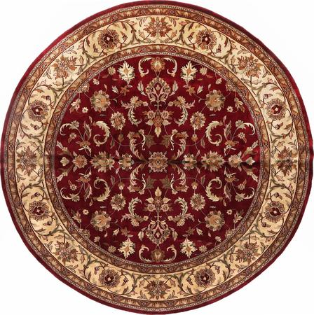 "Hand Made India Mahal 9'10"" x 9'10"" Red"