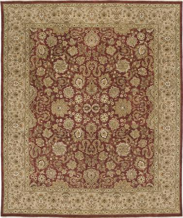 """Hand Knotted India Isfahan 9' x 12'8"""" Red"""