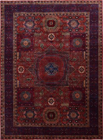 Hand Made Pakistan Mamluk 9'8''x13'8'' Orange DK