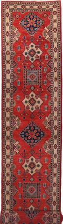 Hand Made Pakistan Kazak 3' x 19' Red