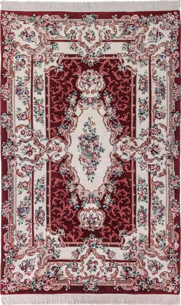 "Hand Made China Aubusson 6'6"" x 8'5"" Red"