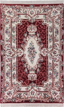 """Hand Made China Aubusson 6'6"""" x 8'5"""" Red Rug"""