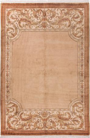 """Hand Made China Aubusson 5'6"""" x 7'9"""" Pink Rug"""