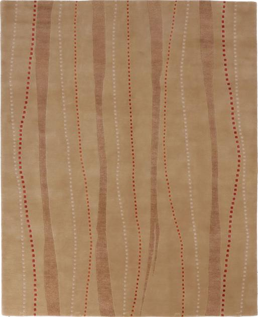 Hand Made India Contemporary 8' x 10' Brown LT