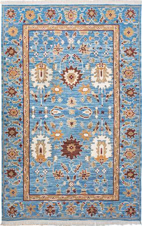Hand Made China Soumak 5' x 8' Blue LT