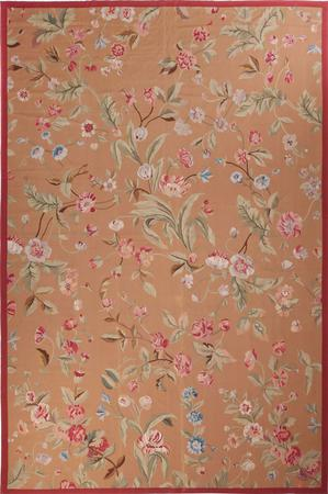 Flat Weave China Aubusson 12' x 18' Yellow