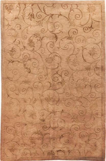Hand Knotted China Contemporary 6' x 9' Brown LT