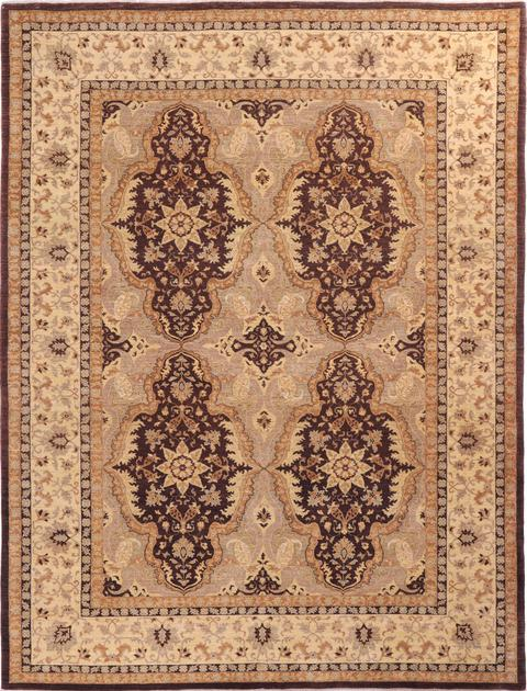 "Hand Made Pakistan Tabriz 8'11"" x 12' Brown DK"