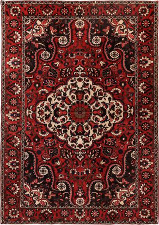"Hand Knotted Iran Bakhtiari 6'11"" x 10' Red"
