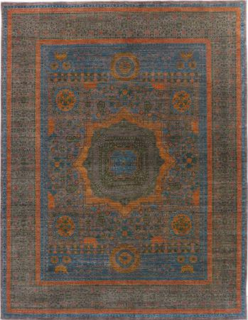 "Hand Made Pakistan Mamluk 7'10"" x 10'2"" Blue"