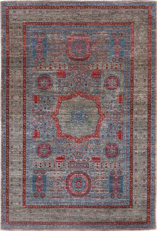 "Hand Made Pakistan Mamluk 4' x 5'11"" Blue"