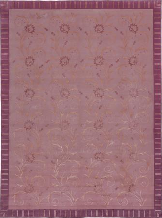 """Hand Made India Floral 8'6"""" x 11'6"""" Purple LT"""