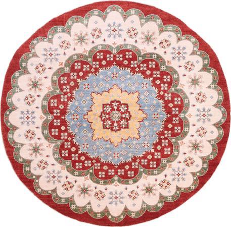 "Hand Made Afghanistan Kazak 9'10"" x 9'11"" Red"