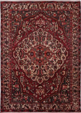 "Hand Knotted Iran Bakhtiari 6'11"" x 9'5"" Red"